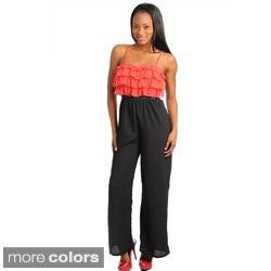 Stanzino Women's Two-tone Ruffled Bodice Jumpsuit