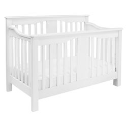 Million Dollar Baby Classic Annabelle 4-in-1 Convertible Crib with Toddler Rail in White