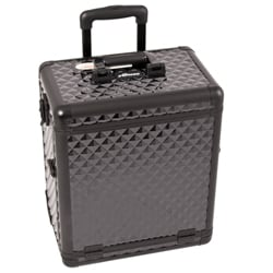 Sunrise Black Diamond Rolling Aluminum Makeup Case