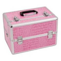 Justcase Pink Crocodile Makeup Case