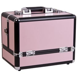Sunrise Pink 3-Tier Accordion Makeup Travel Case