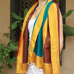 Silk 'Color Symphony' Scarf (India)