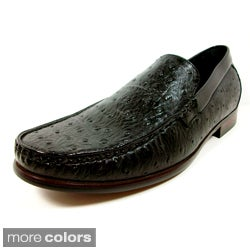 Ferro Aldo Men&#39;s Ostrich Textured Dress Loafers