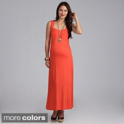 24-7 Comfort Apparel Maternity Sleeveless Maxi Sun Dress
