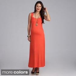 24/7 Comfort Apparel Maternity Sleeveless Maxi Sun Dress