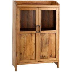 2-Door Walnut Display Cabinet