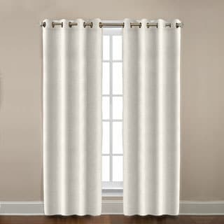 Grand Luxe Pearl All Linen Gotham Grommet Curtain Panel