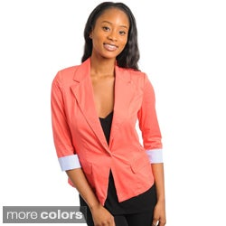 Stanzino Women's 3/4-sleeve 1-button Blazer