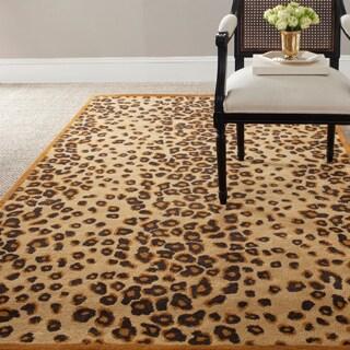 Martha Stewart Kalahari Teak Wool/ Viscose Rug (2'6 x 4'3)