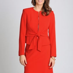 Sharagano Noir Women's Scarlet Red Career Separate Jacket