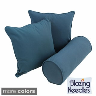 Blazing Needles Twill Decorative Pillows (Set of 3)