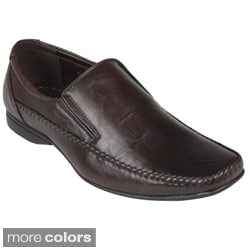 Boston Traveler Men&#39;s Leatherette Square Toe Slip-on Loafers