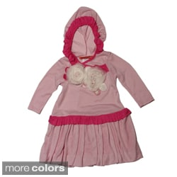 Funkyberry Girls Striped Hooded Dress