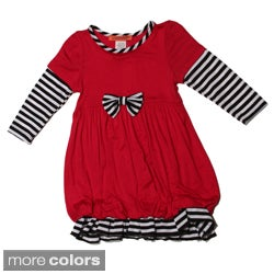 Funkyberry Girls Long Sleeve Striped Bubble Dress