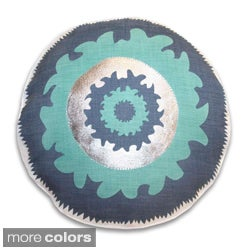 18-inch Round Suzani Decorative Throw Pillow