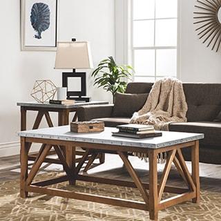 Zinc Top Bridge Coffee Table