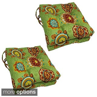 Blazing Needles 16-in Square Outdoor Chair Cushions (Set of 4)