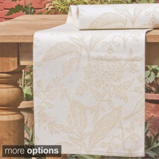 Mahogany Beige 'Bontanical Jacquard' Table Runner
