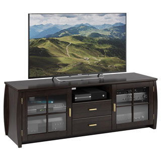 Sonax Washington Mocha Black 59-inch Wood Veneer TV/ Component Bench