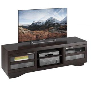 Sonax Granville Mocha Warm Cinnamon Wood Veneer 66-inch TV Bench