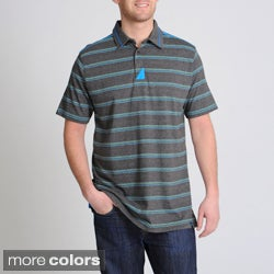 Burnside Men's Striped Short Sleeve Polo