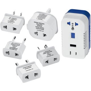 White Converter with Extra Outletpwr USB Port