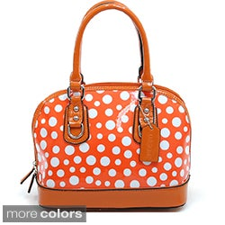 Dasein Petite Polka-dot Fashion Satchel