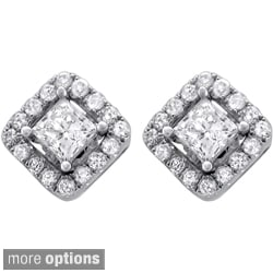 14k Gold 1/2 or 1ct TDW Diamond Removable Jacket Earrings (I-J, I1-I2)
