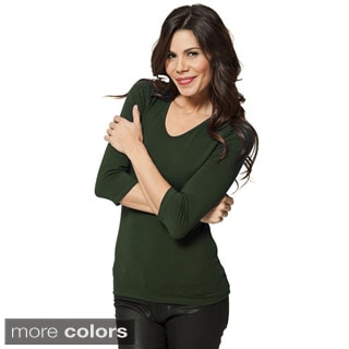 modbod Women's Basic 3/4-sleeve