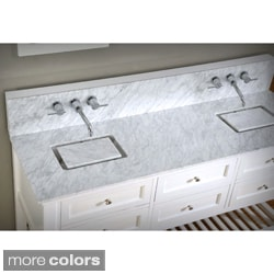 70-inch Pearl White Mission Spa Premium Double Sink Vanity