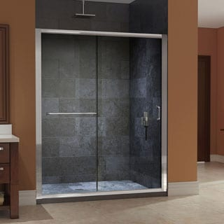 DreamLine Infinity-Z 56- to 60-inch Frameless Glass Sliding Shower Door