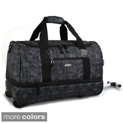 J World 'Stadium' 21-inch Carry-on Rolling Drop-Bottom Upright Duffel Bag