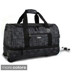 J World 'Stadium' 21-inch Carry-on Rolling Drop-Bottom Upright Duffel Bag