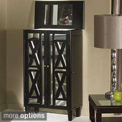 Decorative Front 3-Drawer Free Standing Jewelry Armoire