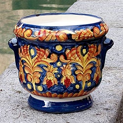 Handcrafted Ceramic 'Royalty' Flower Pot (El Salvador)