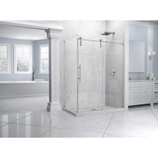 DreamLine Enigma-Z 32-1/2 x 48-3/8 Frameless Sliding Shower Enclosure