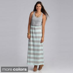 Stanzino Women's Two-tone Striped Maxi Dress