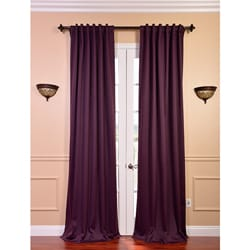 Blackout Thermal Aubergine Curtain Panels (Set of 2)