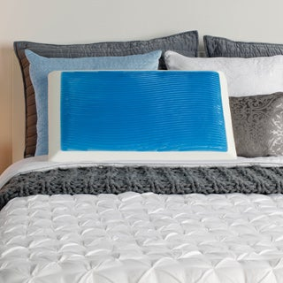 Sealy Memory Foam and Gel Bed Pillow with Mesh Cover