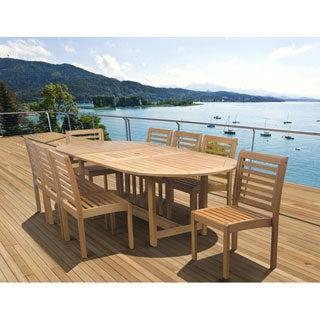Amazonia Amelia Eucalyptus Wood 9-piece Extendable Outdoor Dining Set