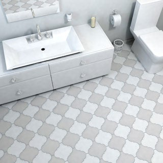 SomerTile 8x8-inch Morocco Provenzale White Porcelain Floor and Wall Tile (Case of 16)