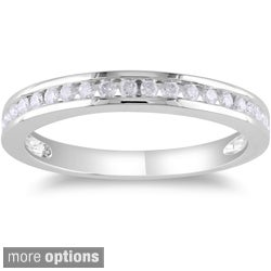 Miadora 14k Gold 1/4ct TDW Diamond Wedding Band (G-H, I1-I2)