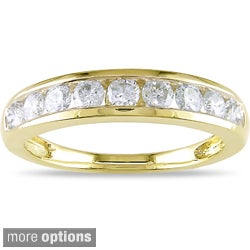 Miadora 14k Gold 3/4ct TDW Certified Diamond Wedding Band (G-H, I1-I2)