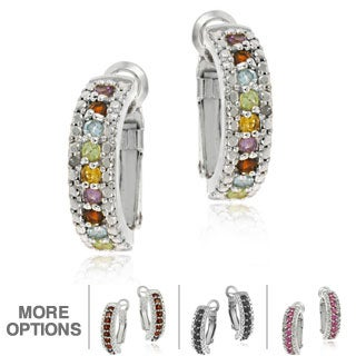 Glitzy Rocks Color-plated Gemstone and Diamond Accent Earrings