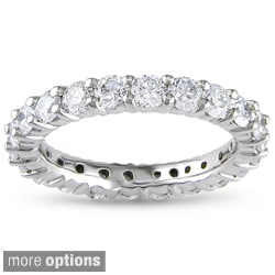Miadora Signature Collection 14k Gold 2ct TDW Certified Diamond Eternity Band (G-H, I1-I2)