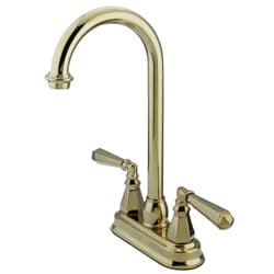Polished Brass Centerset Bar Faucet