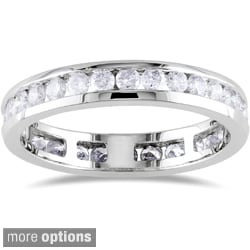 Miadora 14k Gold 1ct TDW Certified Diamond Eternity Ring (G-H, I1-I2)