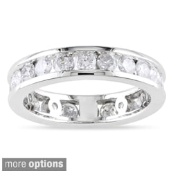 Miadora 14k Gold 2ct TDW Diamond Channel-set Eternity Ring (G-H, I1-I2)