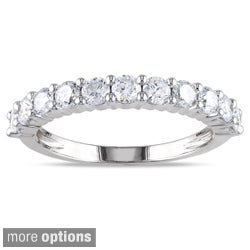 Miadora Certified 14k Gold 1ct TDW Diamond Eternity Wedding Band (G-H, I1-I2)