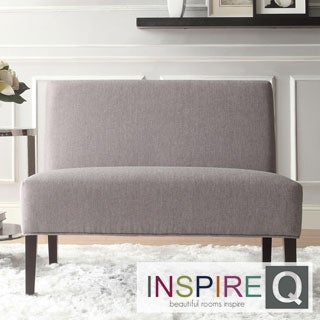Easton Gray Linen 2-seater Accent Loveseat